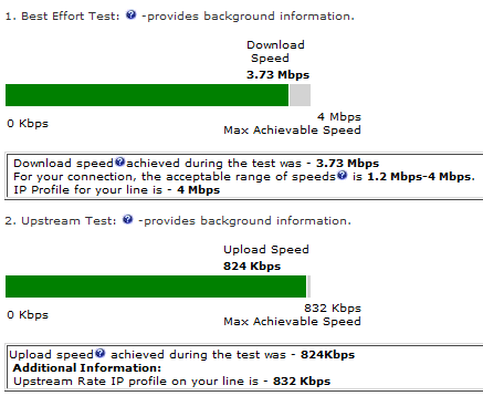 BT speed test