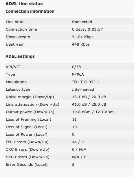 ASDL line status.png