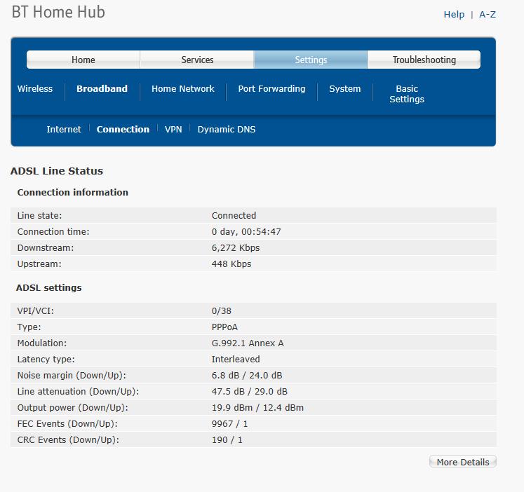 BT Home Hub ADSL Stats.png
