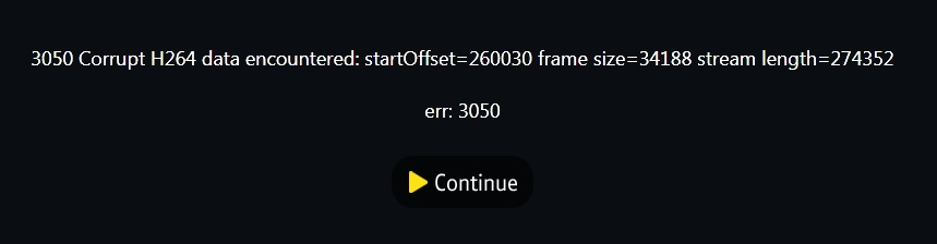 Error Message - VC017