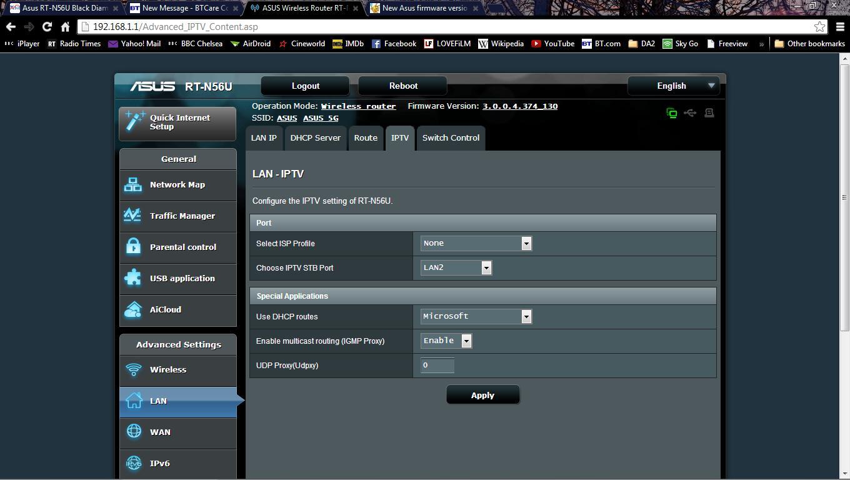 IPTV tab