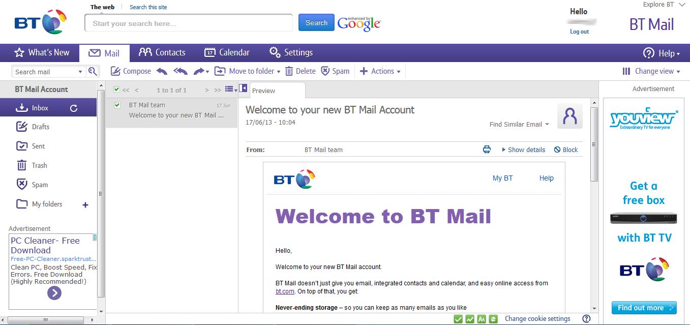 bt.com e mail login