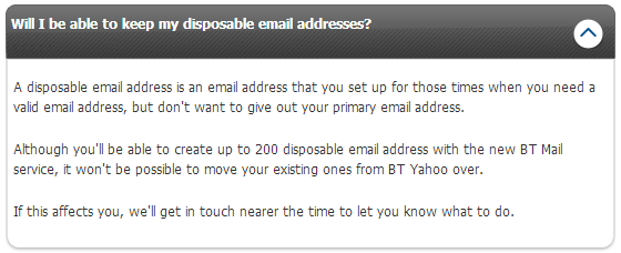 BT/Yahoo Disposable email addresses - Page 2 - BT Community