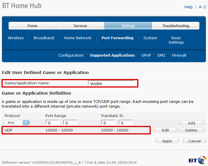 Solved: Home Hub 3 Port Forwarding (NOT) - Page 55 - BT