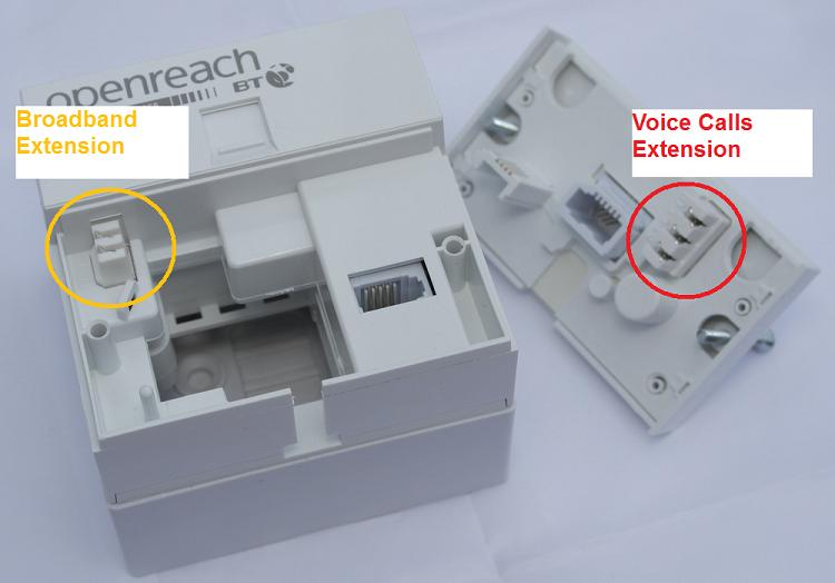 bt home hub 5 on master socket - can it be moved