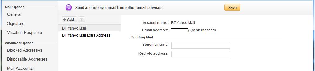 BT Yahoo Mail