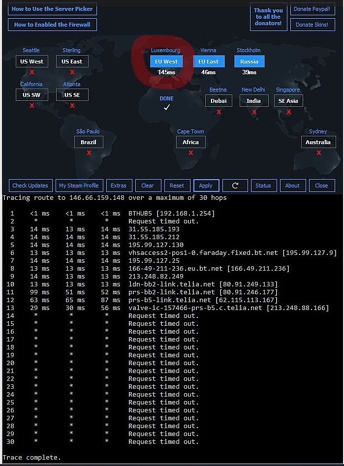 CS Go matchmaking commande ping