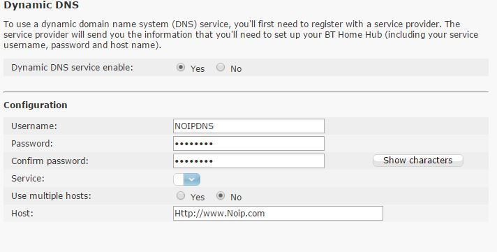 Th epull down box is empty- meant to have DDNS service names pre-filled?