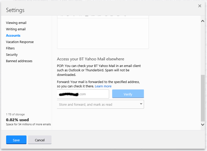 Solved: Disable spam filter in BT Yahoo mail - BT Community