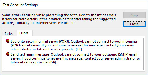 Solved: Problems with Outlook 2016 and btinternet email ad    - BT