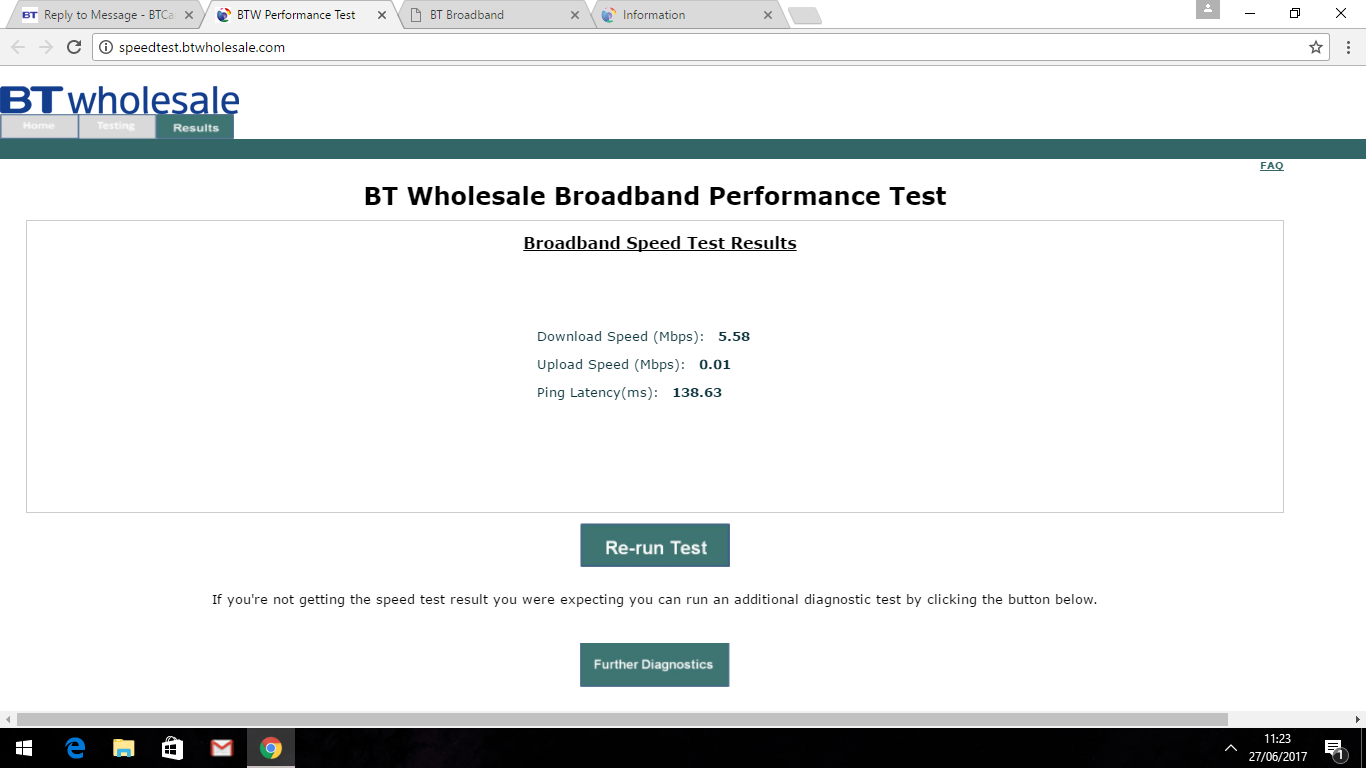 Solved: Slow download/almost zero upload speed - BT Community