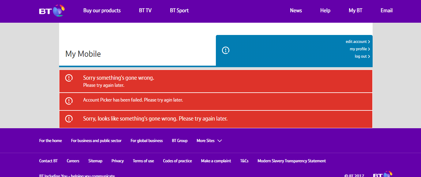 Can't Access BT Mobile on Chrome ? - BT Community