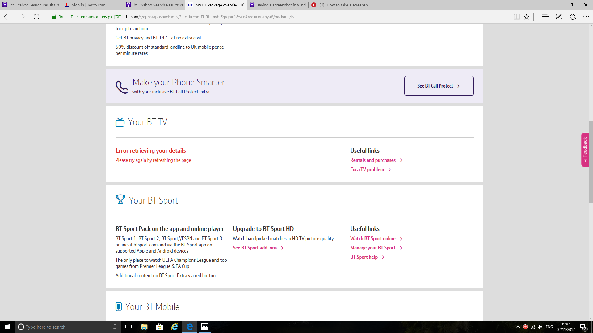 Solved: BTTV details cannot be viewed on My BT - BT Community