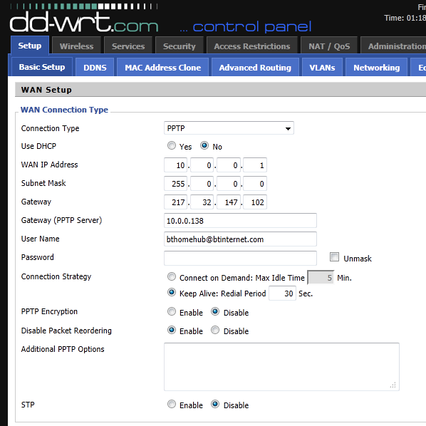 Solved: Alternative Modem/Router using DD-WRT - BT Community