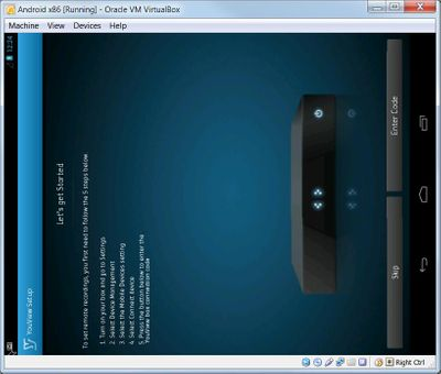 Android Virtual Machine running youview