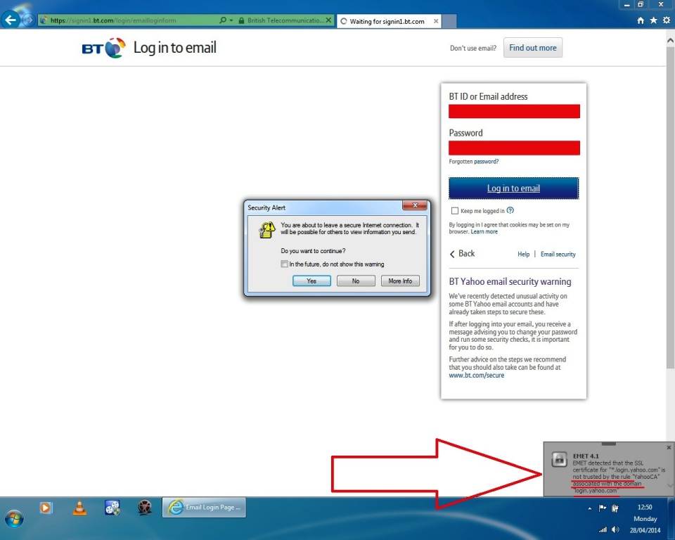 Solved Bt Mail Ssl Security Certificate Not Trusted Bt Community
